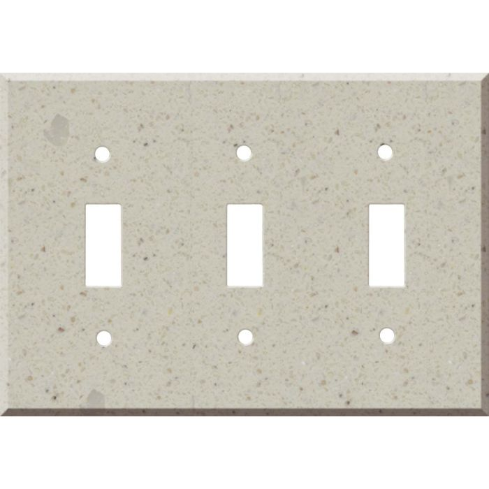 Corian Canvas Triple 3 Toggle Light Switch Covers