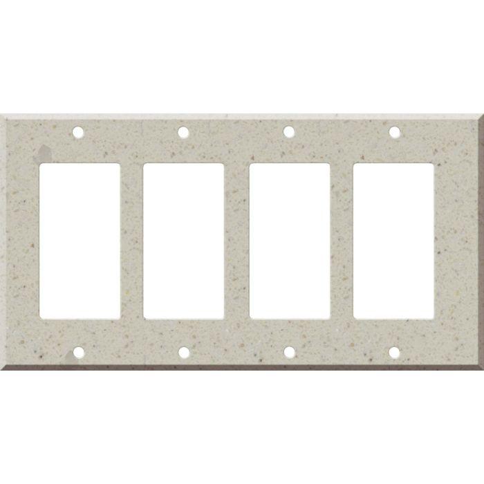 Corian Canvas 4 Rocker GFCI Decorator Switch Plates