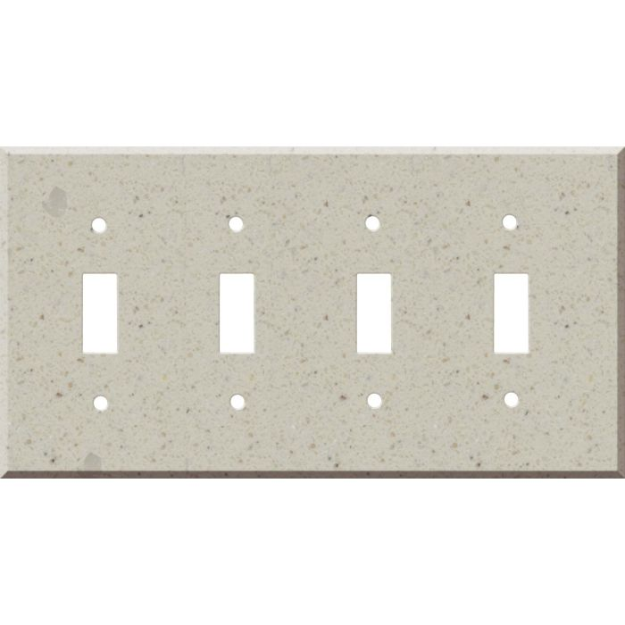 Corian Canvas Quad 4 Toggle Light Switch Covers