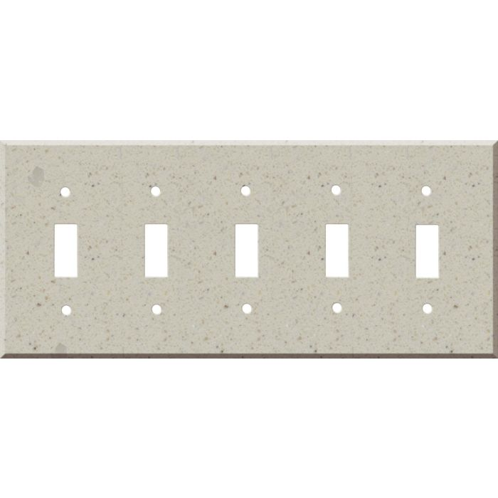 Corian Canvas 5 Toggle Wall Switch Plates