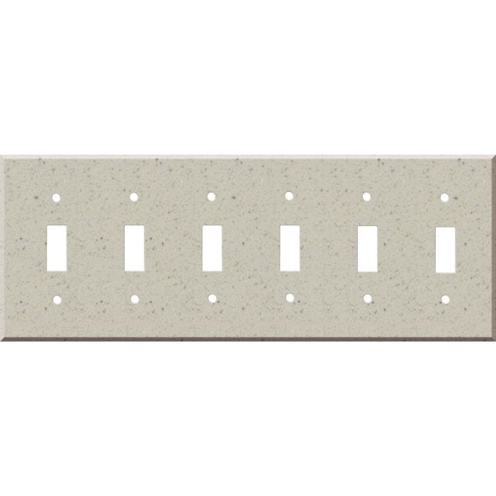 Corian Canvas 6 Toggle Wall Plate Covers