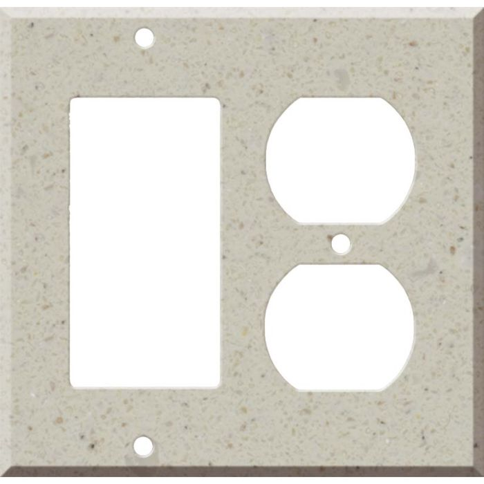 Corian Canvas Combination GFCI Rocker / Duplex Outlet Wall Plates
