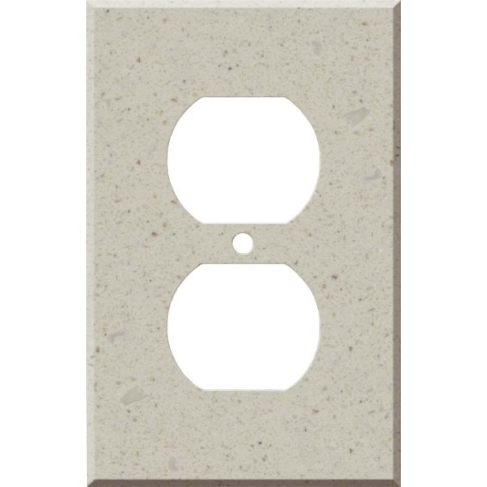 Corian Canvas 1 Gang Duplex Outlet Cover Wall Plate