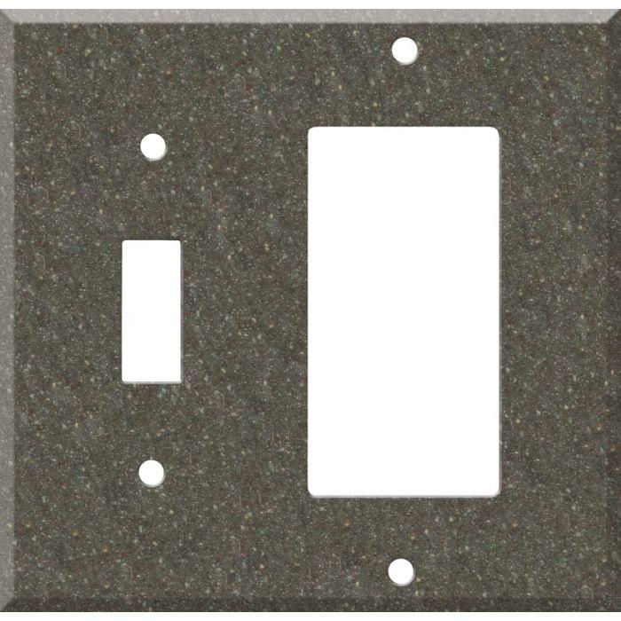 Corian Canyon Combination 1 Toggle / Rocker GFCI Switch Covers