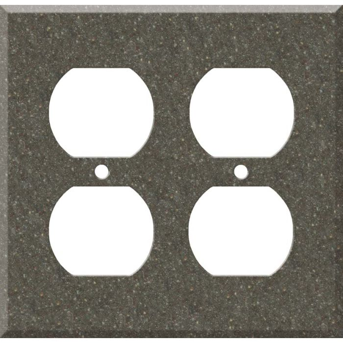 Corian Canyon 2 Gang Duplex Outlet Wall Plate Cover