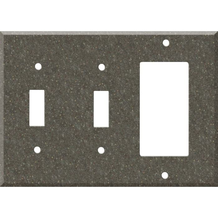 Corian Canyon Double 2 Toggle / 1 GFCI Rocker Combo Switchplates