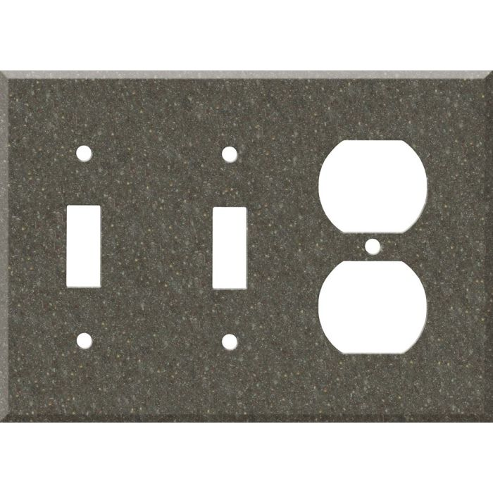 Corian Canyon Double 2 Toggle / Outlet Combination Wall Plates