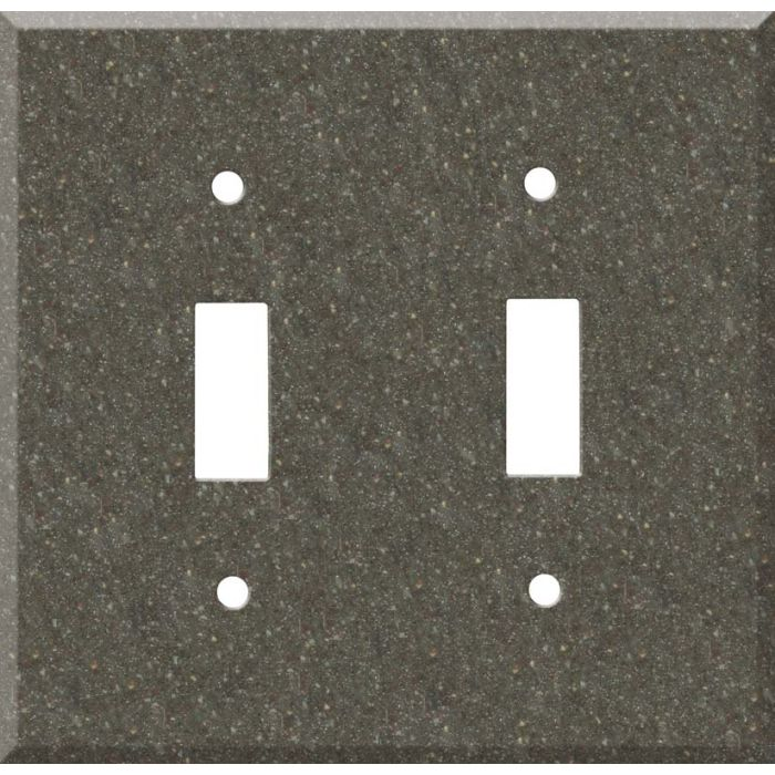 Corian Canyon Double 2 Toggle Switch Plate Covers