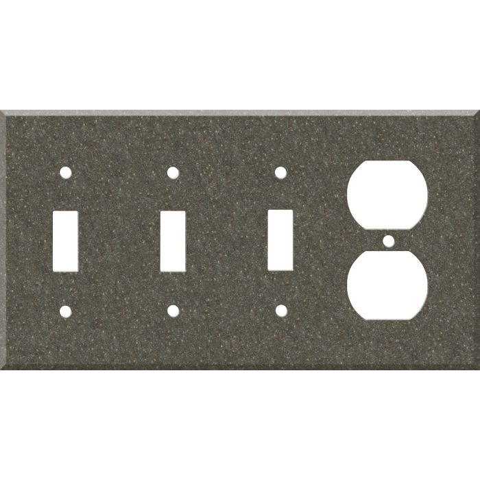 Corian Canyon Combination Triple 3 Toggle / Outlet Wall Plate Covers