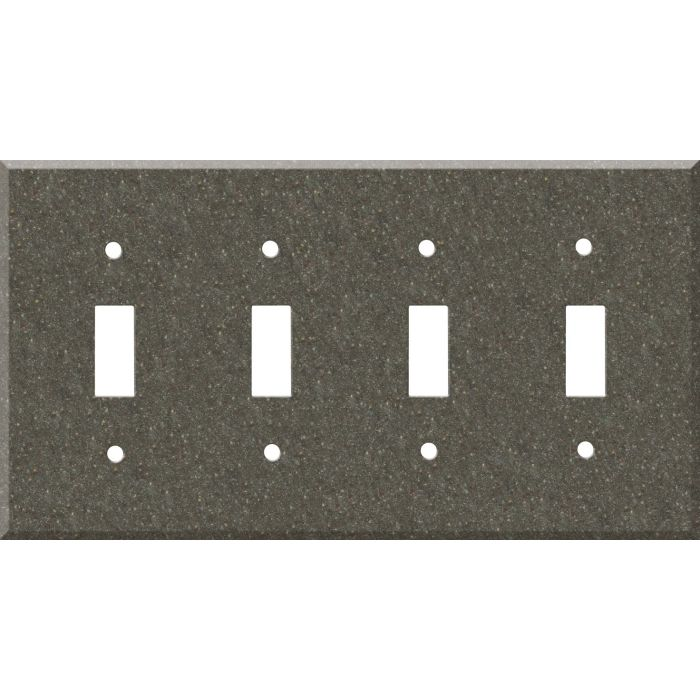 Corian Canyon Quad 4 Toggle Light Switch Covers