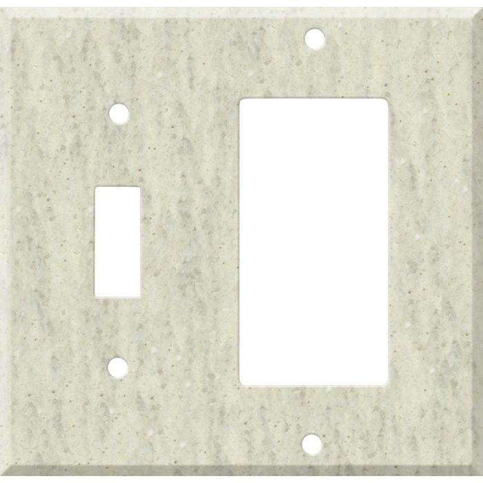 Corian Clam Shell Combination 1 Toggle / Rocker GFCI Switch Covers