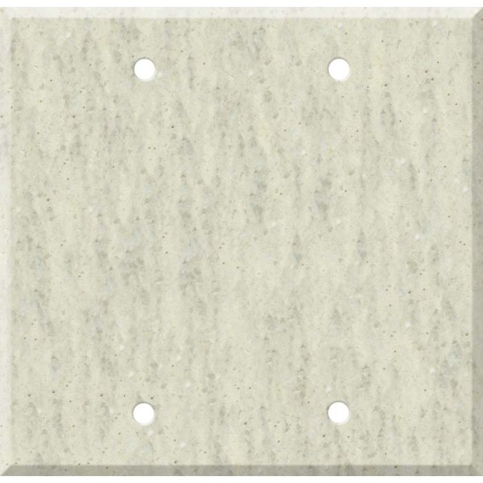 Corian Clam Shell Double Blank Wallplate Covers