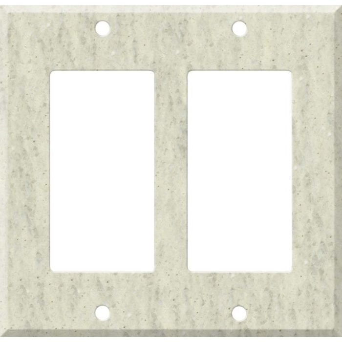 Corian Clam Shell 2 Gang Decorator / GFCI Rocker Wall Plate Cover