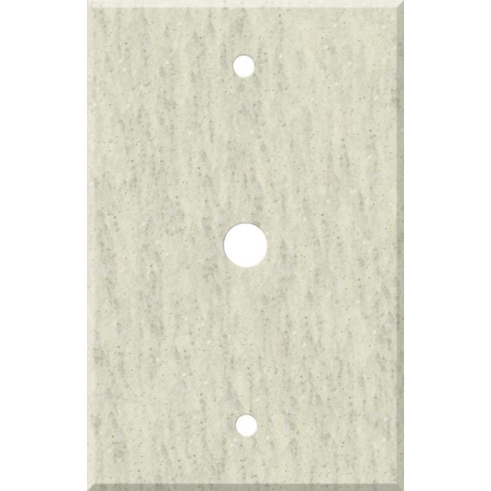 Corian Clam Shell Coax Cable TV Wall Plates