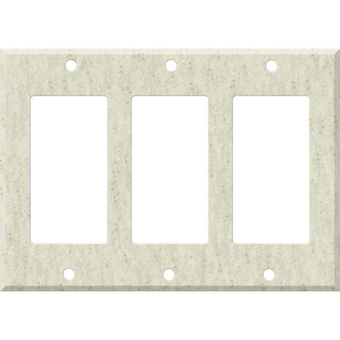 Corian Clam Shell 3 - Rocker / GFCI Decora Switch Plate Cover