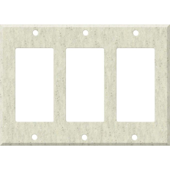 Corian Clam Shell Triple 3 Rocker GFCI Decora Light Switch Covers
