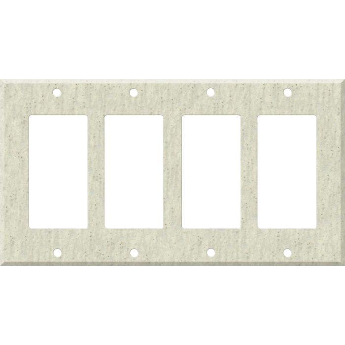 Corian Clam Shell 4 Rocker GFCI Decorator Switch Plates