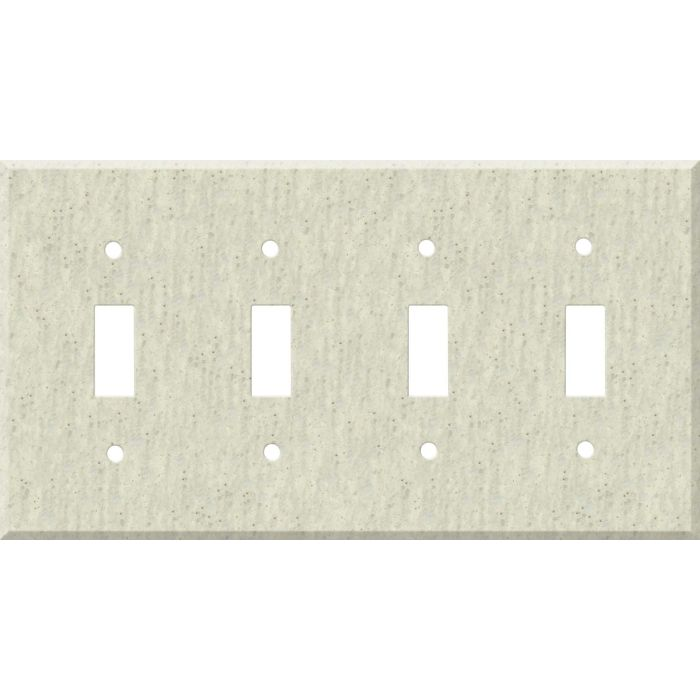 Corian Clam Shell Quad 4 Toggle Light Switch Covers