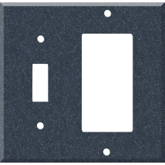 Corian Cobalt 1 Toggle Wall Switch Plate - GFI Rocker Cover Combo