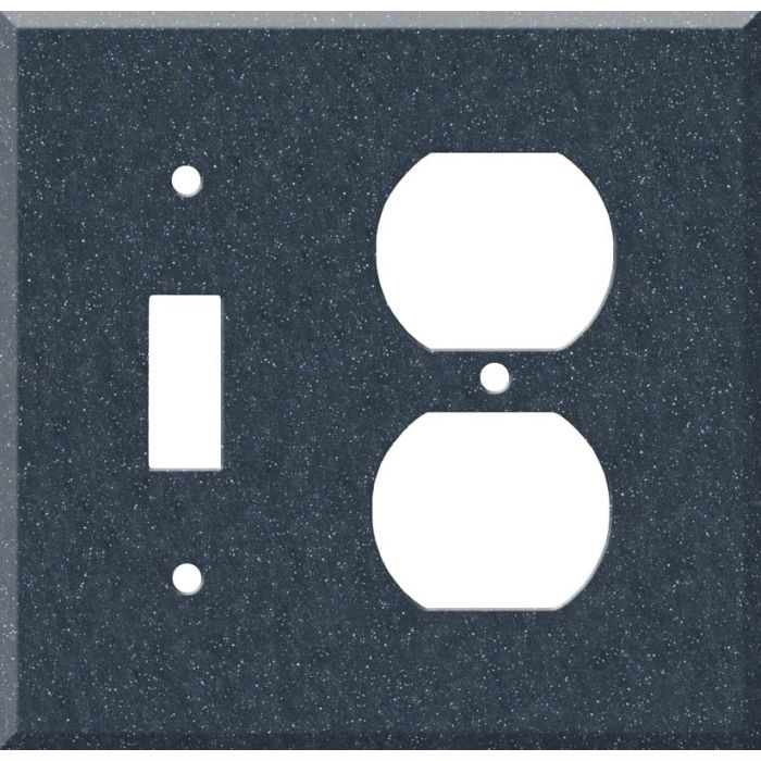 Corian Cobalt 1 Toggle Wall Switch Plate - Outlet Cover Combination