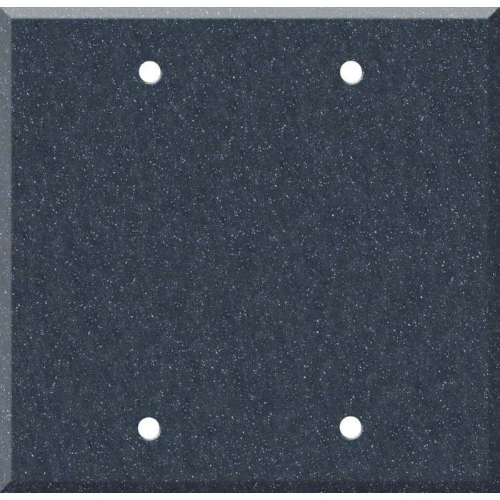Corian Cobalt Double Blank Wallplate Covers