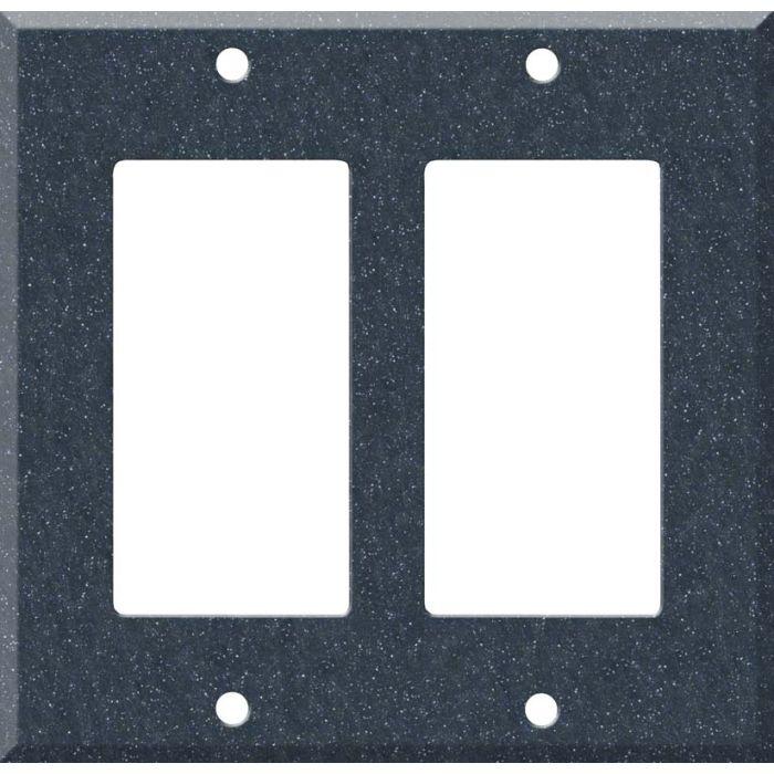 Corian Cobalt 2 Gang Decorator / GFCI Rocker Wall Plate Cover