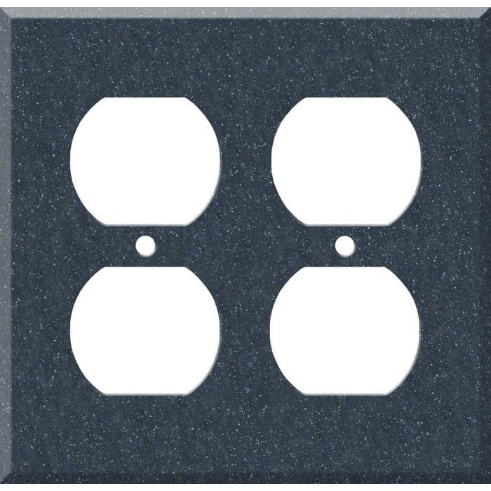 Corian Cobalt 2 Gang Duplex Outlet Wall Plate Cover