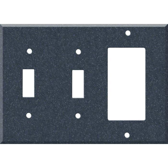 Corian Cobalt 2-Toggle / 1-GFI Rocker - Combo Switch Covers