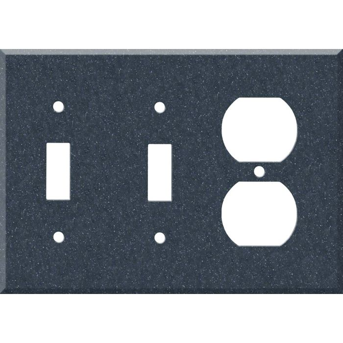 Corian Cobalt 2-Toggle / 1-Duplex Outlet - Combination Wall Plates