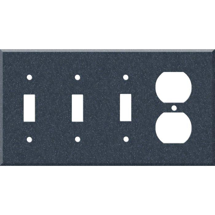 Corian Cobalt 3-Toggle / 1-Duplex - Combination Wall Plates