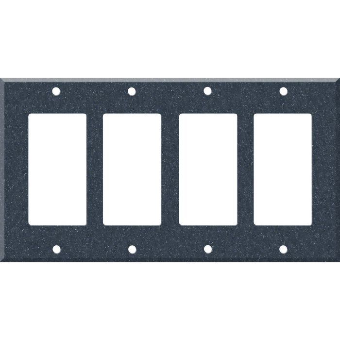 Corian Cobalt 4 Rocker GFCI Decorator Switch Plates