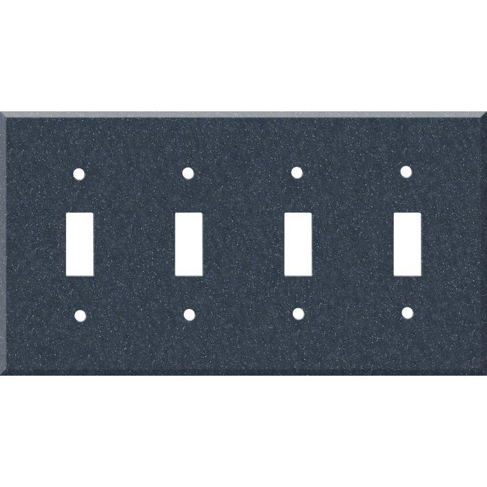 Corian Cobalt Quad 4 Toggle Light Switch Covers