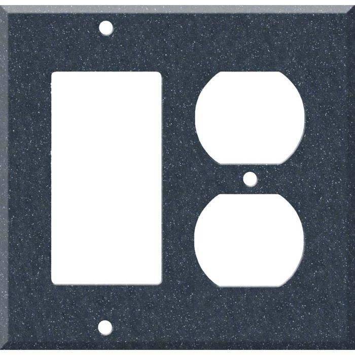 Corian Cobalt Decora GFCI Rocker / Duplex Outlet Combination Wall Plate
