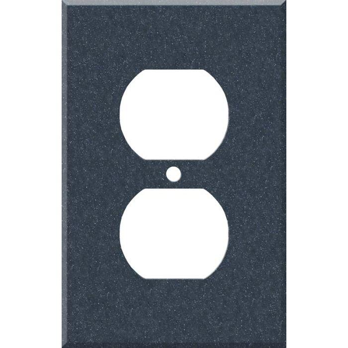 Corian Cobalt 1 - Gang Duplex Outlet Cover Wall Plate