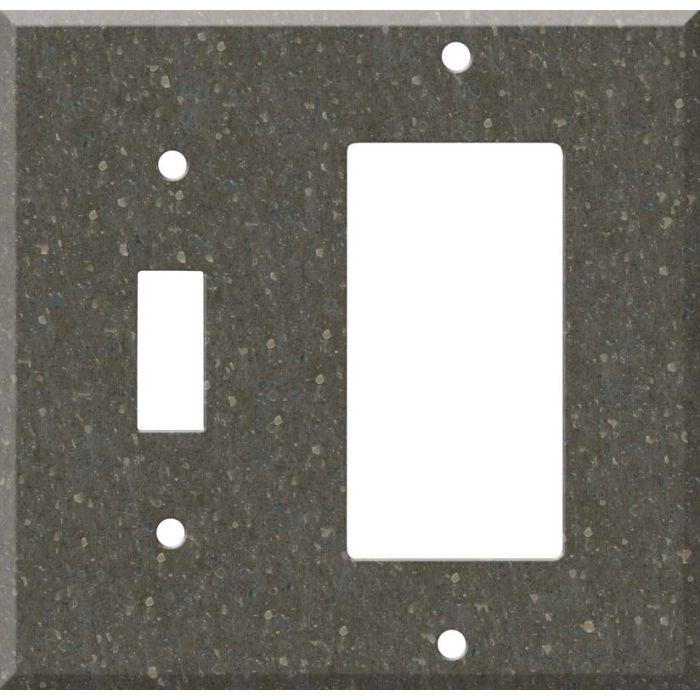 Corian Cocoa Brown Combination 1 Toggle / Rocker GFCI Switch Covers