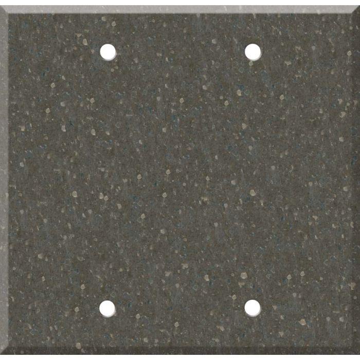 Corian Cocoa Brown Double Blank Wallplate Covers