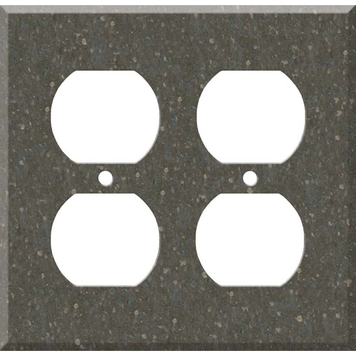 Corian Cocoa Brown 2 Gang Duplex Outlet Wall Plate Cover