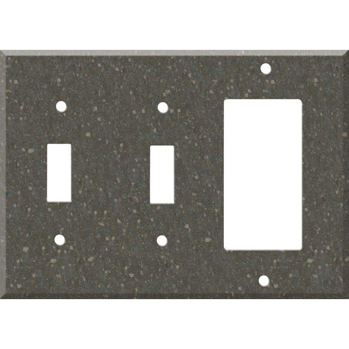 Corian Cocoa Brown Double 2 Toggle / 1 GFCI Rocker Combo Switchplates