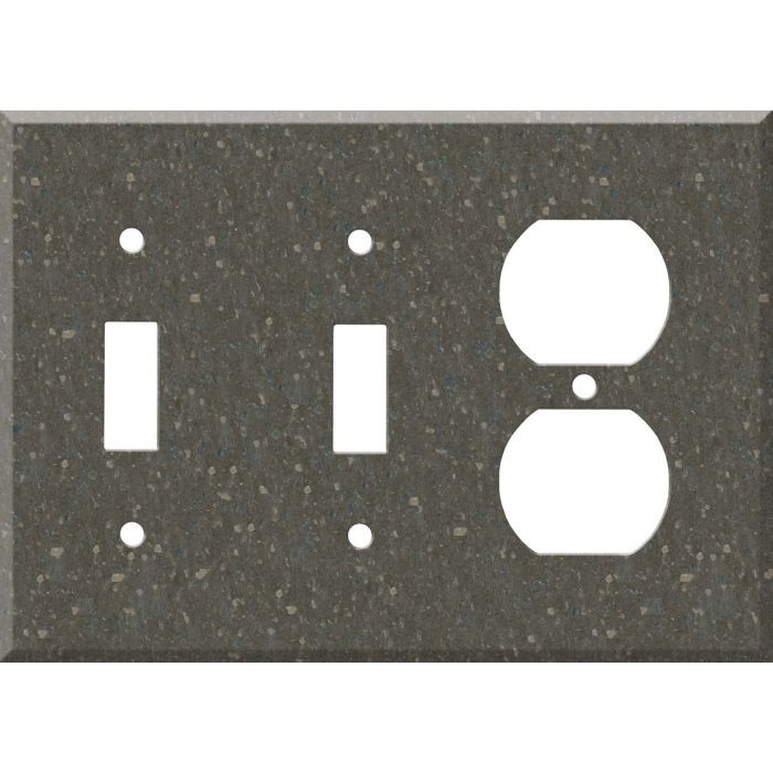 Corian Cocoa Brown Double 2 Toggle / Outlet Combination Wall Plates