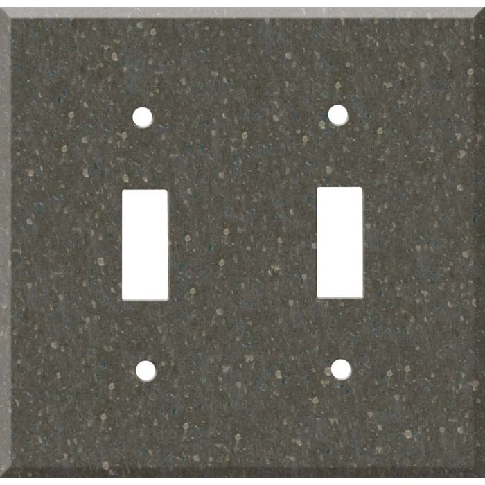 Corian Cocoa Brown Double 2 Toggle Switch Plate Covers