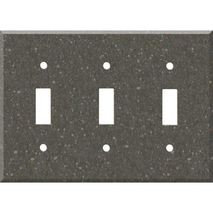 Corian Cocoa Brown Triple 3 Toggle Light Switch Covers