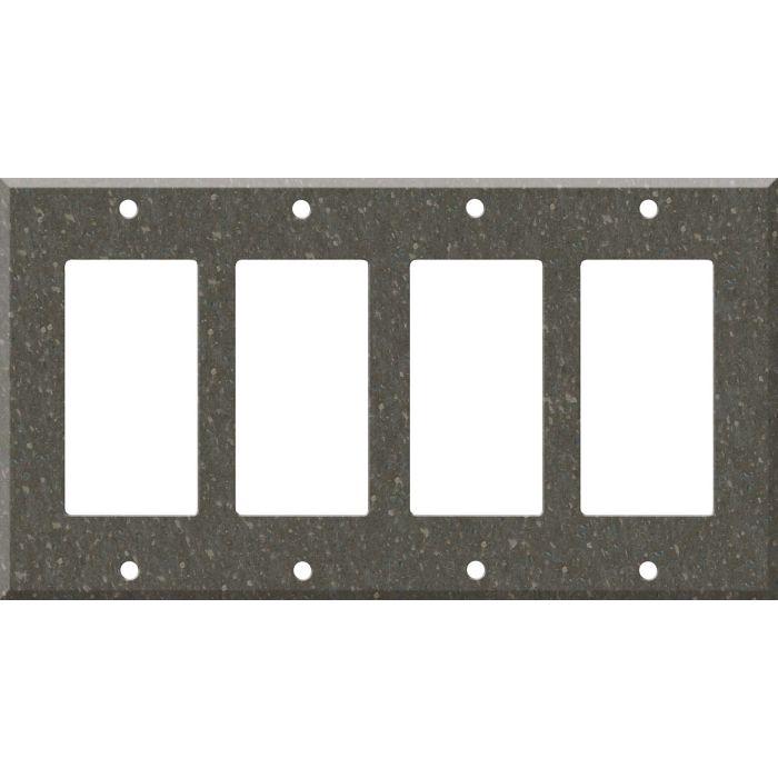 Corian Cocoa Brown 4 Rocker GFCI Decorator Switch Plates