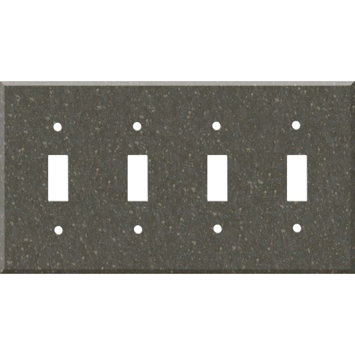 Corian Cocoa Brown Quad 4 Toggle Light Switch Covers