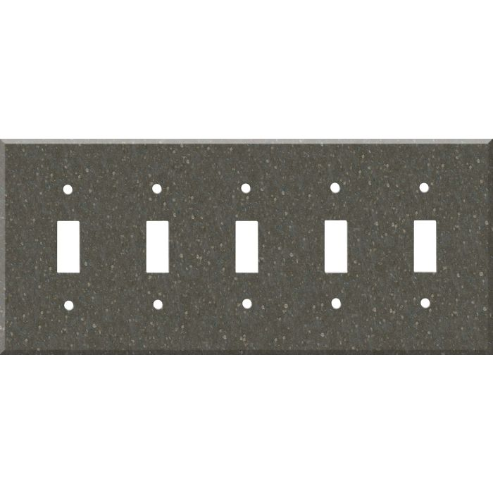 Corian Cocoa Brown 5 Toggle Wall Switch Plates