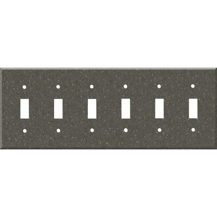 Corian Cocoa Brown 6 Toggle Wall Plate Covers