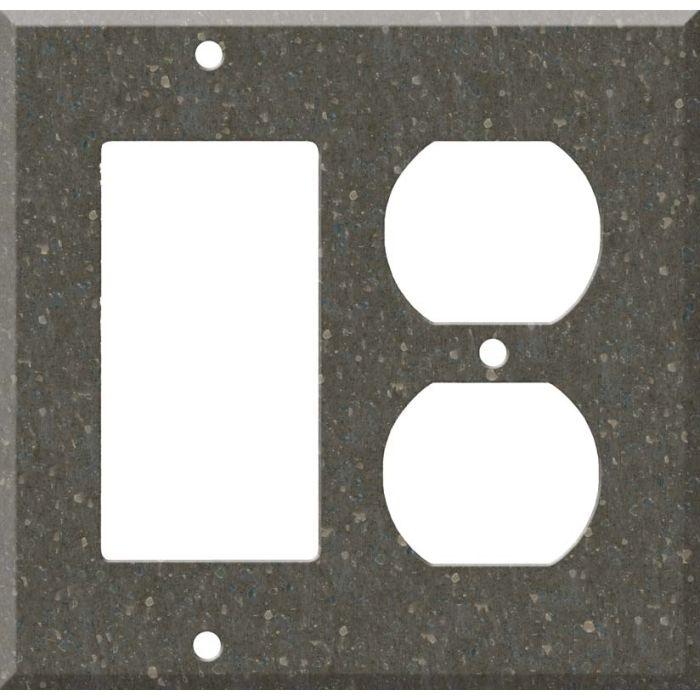 Corian Cocoa Brown Combination GFCI Rocker / Duplex Outlet Wall Plates