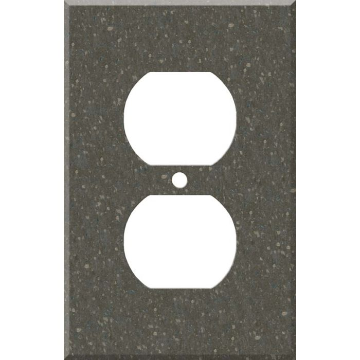 Corian Cocoa Brown 1 Gang Duplex Outlet Cover Wall Plate