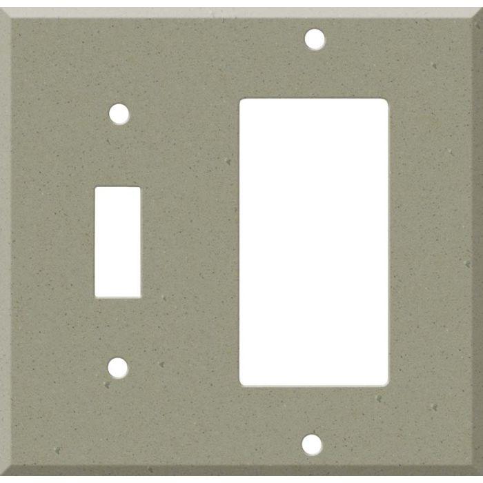 Corian Concrete Combination 1 Toggle / Rocker GFCI Switch Covers