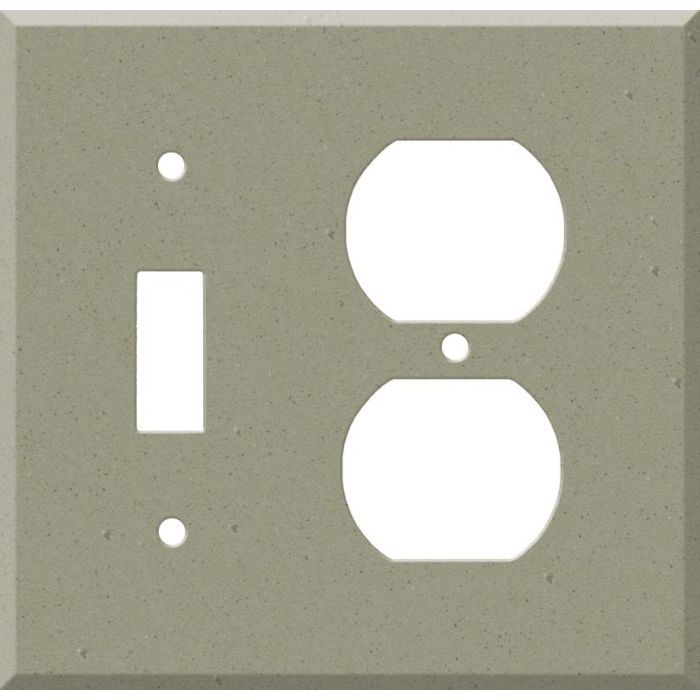 Corian Concrete Combination 1 Toggle / Outlet Cover Plates