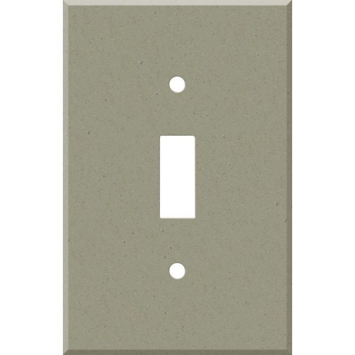 Corian Concrete Single 1 Toggle Light Switch Plates